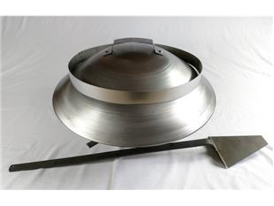 Set barbeque braciere a carbonio fi 65 cm versione inox